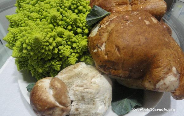 Romanesco con Bolletus edulis, la combinación perfecta.