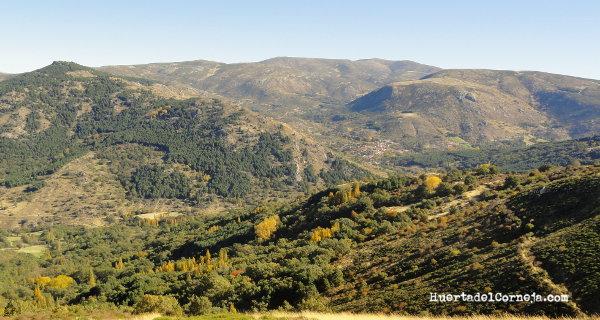 A la derecha regadera, al fondo Serrota y en el valle Navacepedilla de Corneja